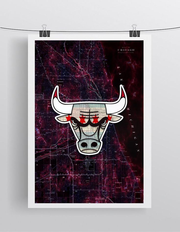 Chicago Bulls Poster, Chicago Bulls Print, Bulls Gift, Chicago Bulls Chicago Flag Poster