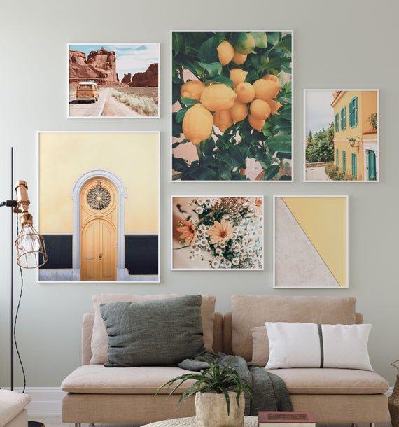 Mustard Yellow Gallery Wall Art Set Of 6 Boho Decor Prints Etsy In 2021 Art Gallery Wall Gallery Wall Art Set Gallery Wall Living room wall art gallery