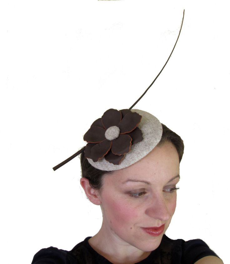 Brown Beige Fascinator Hat - Ladies Hat, Ascot, Derby Hat, Perch Hat, Womens Occasion Hat, Formal Hat by LillibetsMillinery on Etsy https://www.etsy.com/listing/223243545/brown-beige-fascinator-hat-ladies-hat