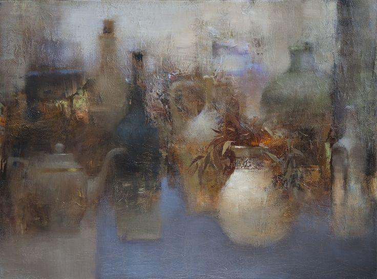 Alexander Zavarin(Russian, b.1954) Coutnry still life oil