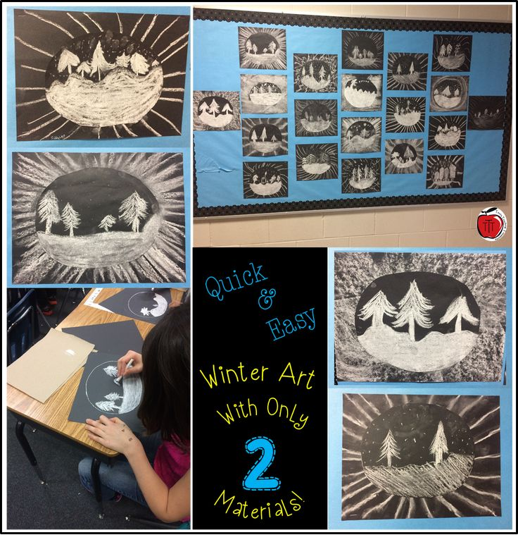 A quick and easy winter art project using only a couple supplies. Great for grades 2-5.