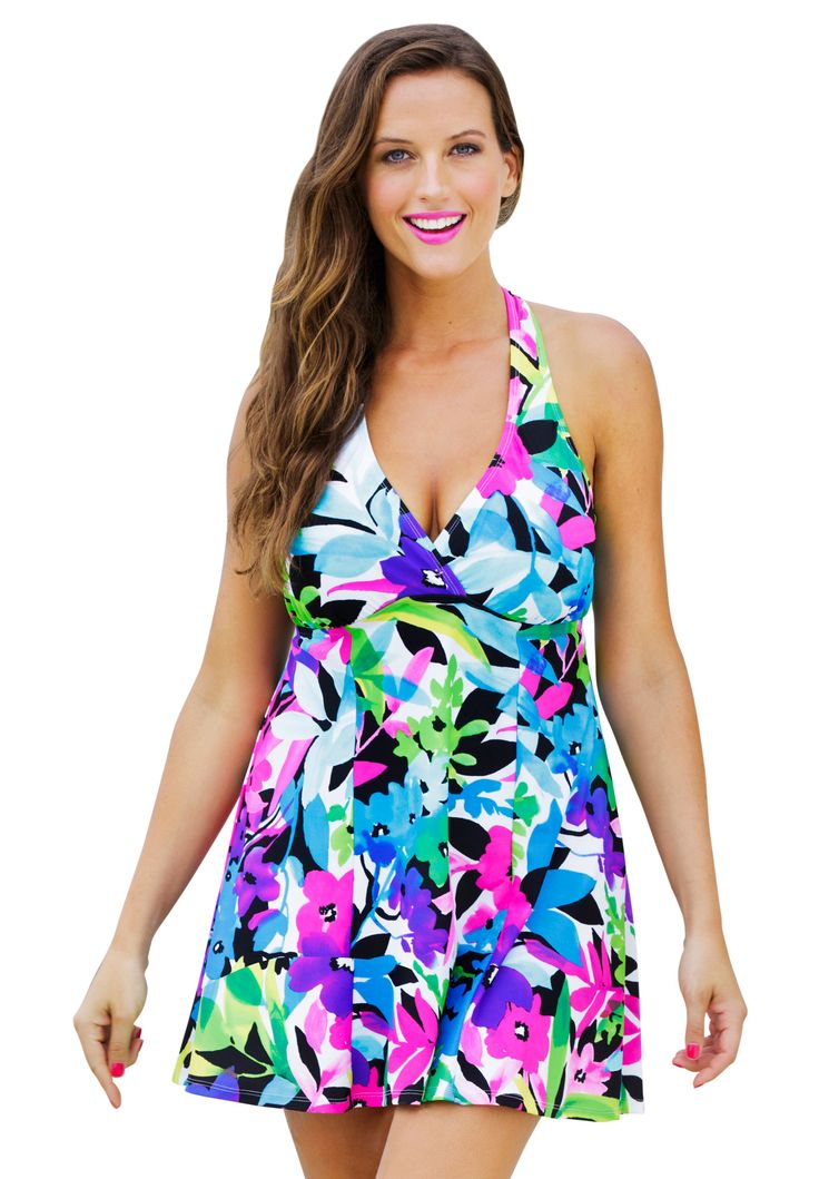 Shore Club Costa Rica H Back Swimdress Plus Size