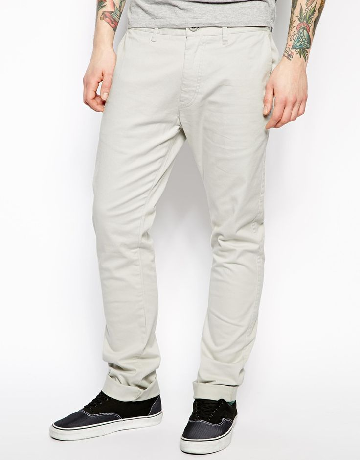 $159, Grey Chinos: 55dsl Prowler Chinos Slim Fit. Sold by Asos. Click for more info: http://lookastic.com/men/shop_items/57824/redirect