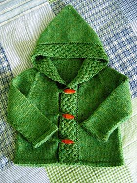Free Knitting Pattern - Baby Sweaters: Merry Cardigan