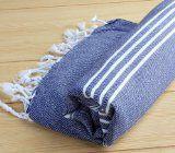 Pestemal Turkish Bath Towel Unisex by Cacala Darkblue