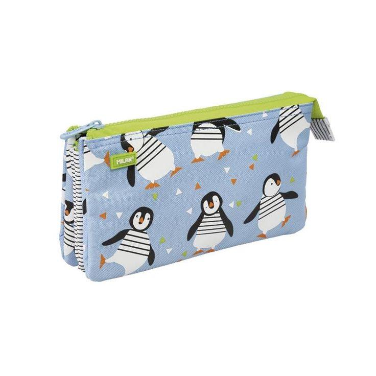 Portatodo 5 compartimentos Penguins | Milan | Papelería | Rotger