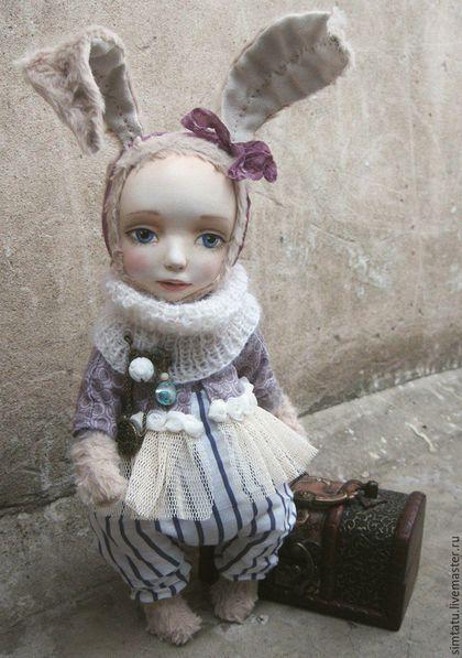 Коллекционные куклы ручной работы. Ярмарка Мастеров - ручная работа. Купить Тедди-долл зайка Яся. Handmade. Тедди-долл