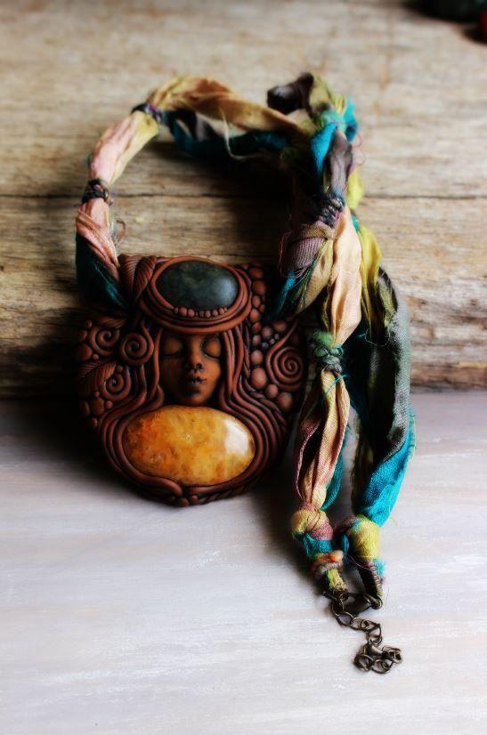 Wild Spirit Woman Necklace with Yellow Quartz and por TRaewyn