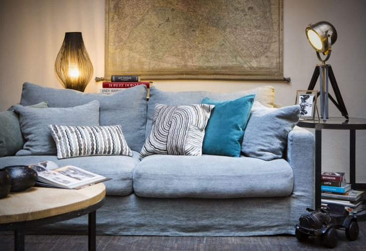 Home spirit light blue sofa Biscarosse from Le Patio.