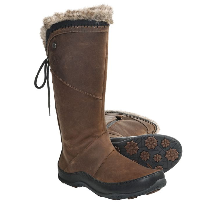 boots woman | ... Face Janey II Luxe Winter Boots (For Women) in Camel Brown/Tnf Black