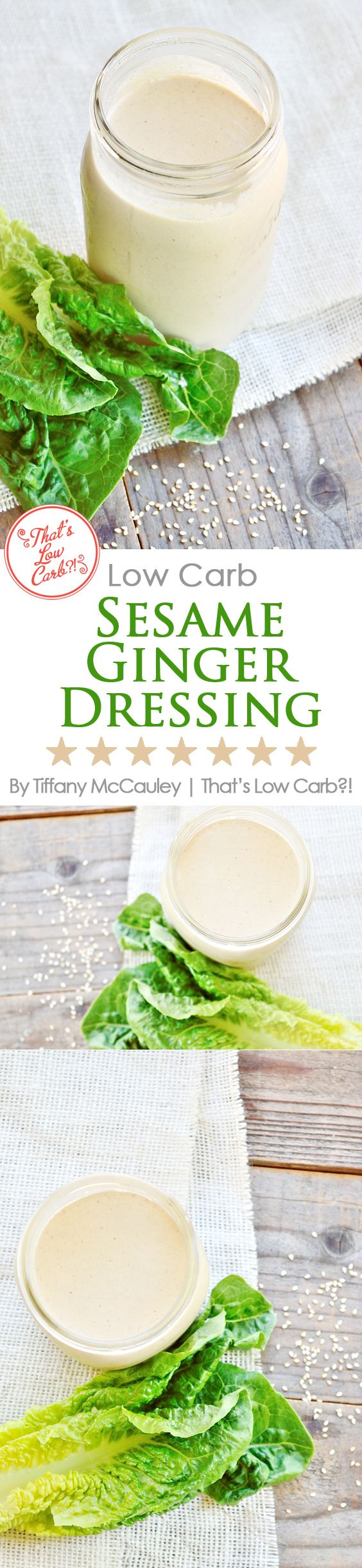 If delicious dressing is your vice when it comes to healthy, low carb eating, then this Low Carb Sesame Ginger Dressing is the perfect excuse to dig in and have a salad for dinner! ~ http://www.thatslowcarb.com