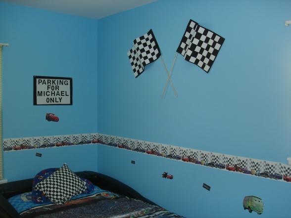 Toddler Race Car Themed Bedroom