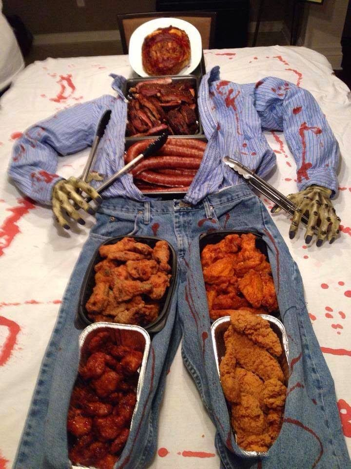 For a Halloween buffet. How clever!!!
