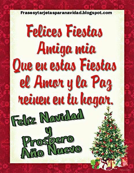Una tarjeta muy especial para regalar a nuestras amigas en esta época de Navidad 2016. Que en estas Fiestas el amor y la paz reinen e...