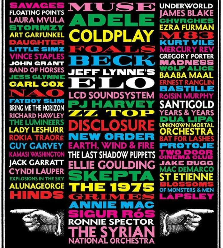 The first #Glastonbury Festival poster for 2016