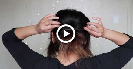 Easy Messy Bun For Short Hair