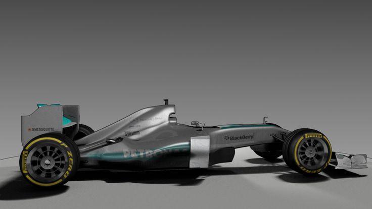 side profile of my mercedes F1 model
