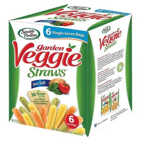 Sensible Portions Garden Veggie Straws Sea Salt 6 ct