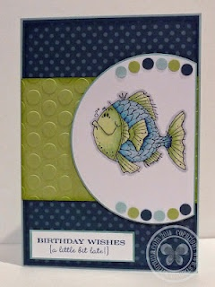 an old set but really cute.: Birthday Stampin, Fish Cards, Cards Ideas, Color Combos, Birthday Cards, Birthday Fish, Ruled Friends, Happy Cards, Fishi Birthday