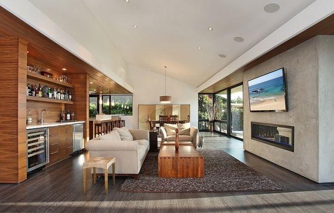 Wohnhaus Melbourne Offener Wohnbereich Sofa Holz Couchtisch | Architecture  | Pinterest | Wohnbereich, Wohnhaus Und Couchtische