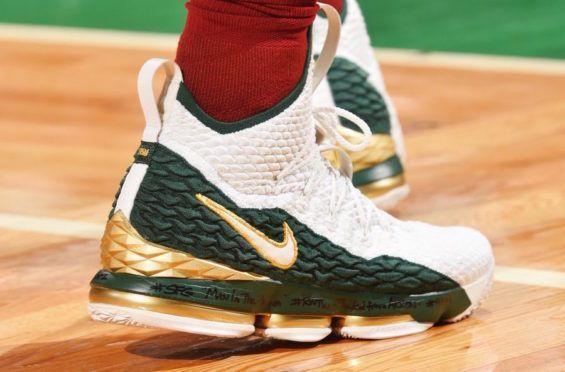LeBron James Wears The Nike LeBron 15