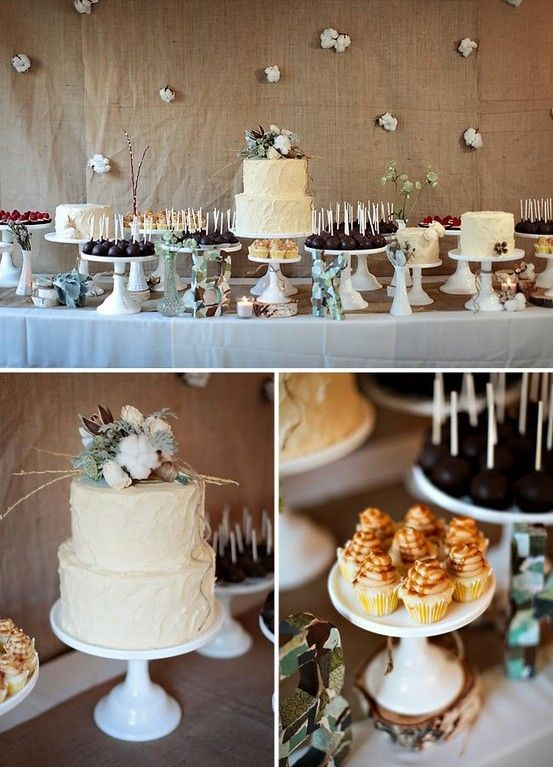 cotton desserts table | Winter cotton wedding | Nozze di cotone http://theproposalwedding.blogspot.it/ #cotton #wedding #winter #matrimonio #cotone #inverno
