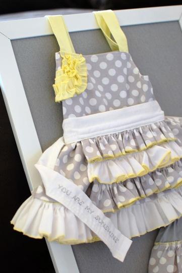 "A ""you are my sunshine"" party dress <3 @Jennifer Pearson"
