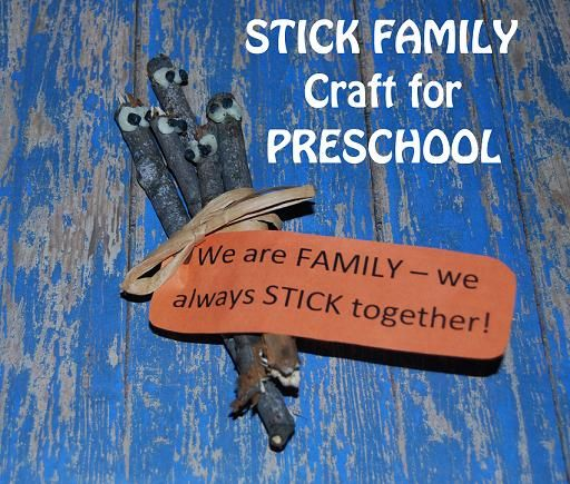 FAMILY THEME: Stick Family Nature Craft - Label is free to print.