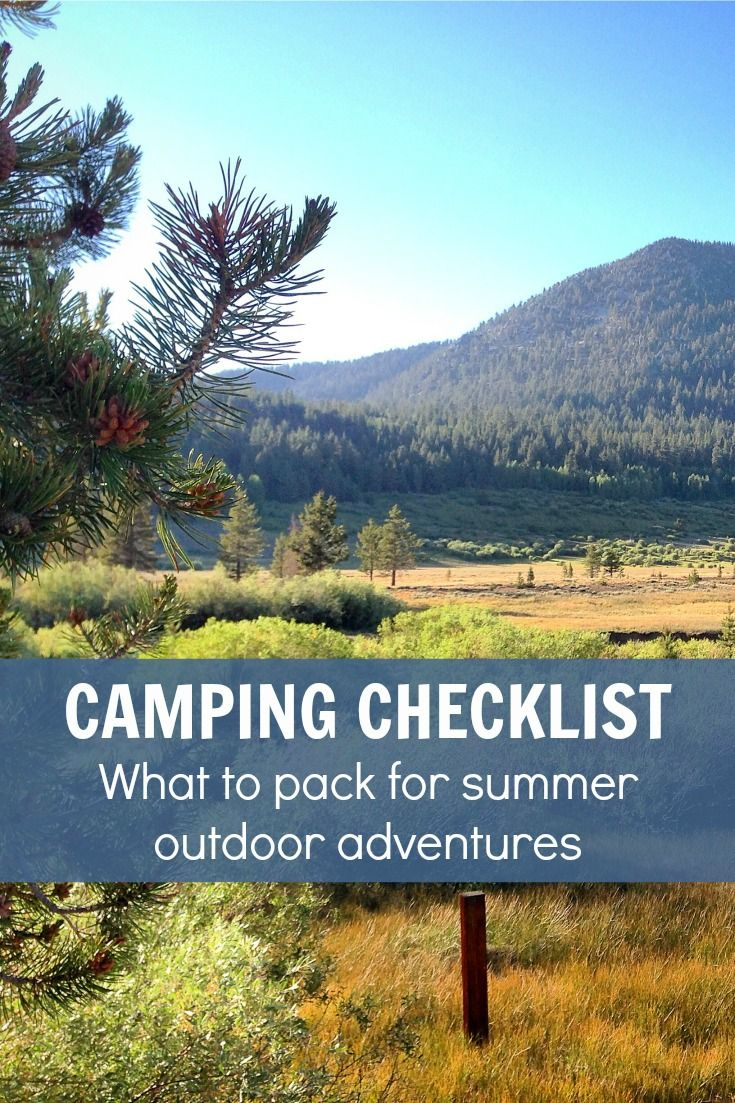 Summer Camping Checklist  Camping Checklist, Camping and Camping Gear