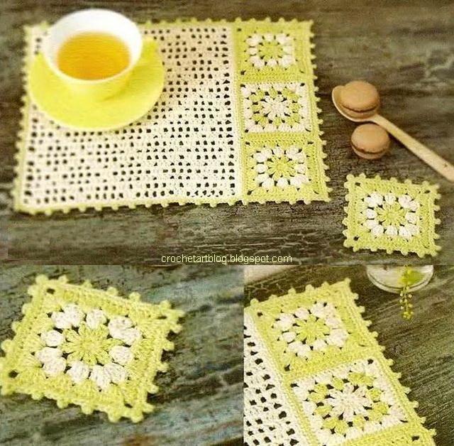 Pequeno Crochet Doily - guardanapos