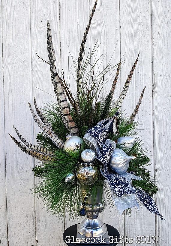 add elegant flair to your holiday decor with this high style silver rh pinterest com