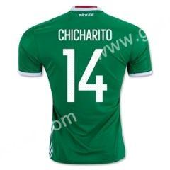 2016-17 Mexico CHICHARITO Home Green Thailand Soccer Jersey