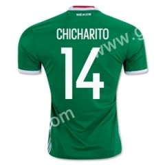 2016-17 Mexico CHICHARITO Home Green Thailand Soccer Jersey