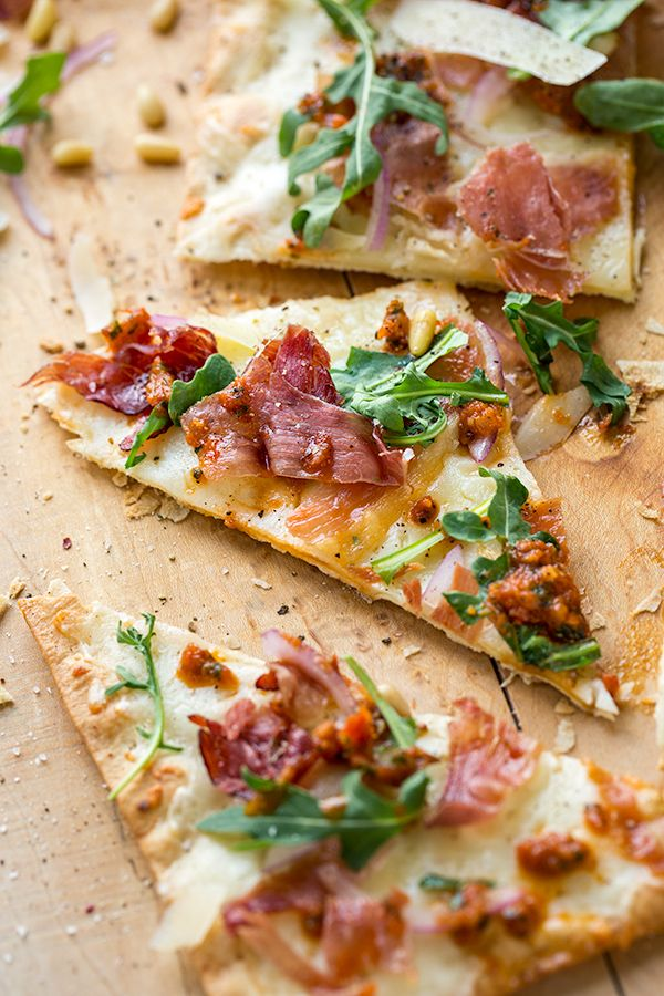 Crispy Prosciutto Flatbread Pizza                                                                                                                                                     More