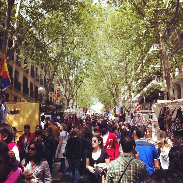 """This huge open-air flee market takes place every Sunday and festive days and has been going on for over 400 years in the  lively area of 'La Latina'. Review 5 August 2014: """"If you are into flea markets this is the one to visit in Madrid. It seems like everyone in the city descends on the narrow streets in this part of town on a Sunday morning. Lots of junk on sale as well as more interesting objets d'art BUT be prepared for crowds and if visiting in the summer prepare yourself for the…"""
