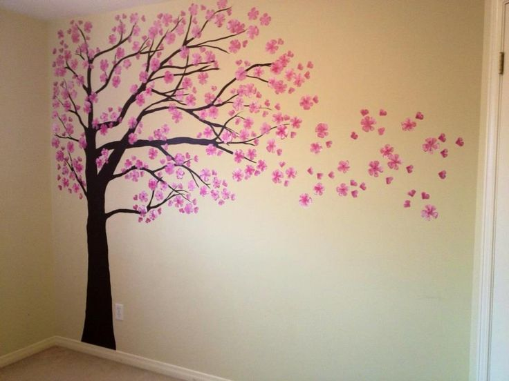 Free Hand Painted Cherry Blossom Tree By Mary Baby