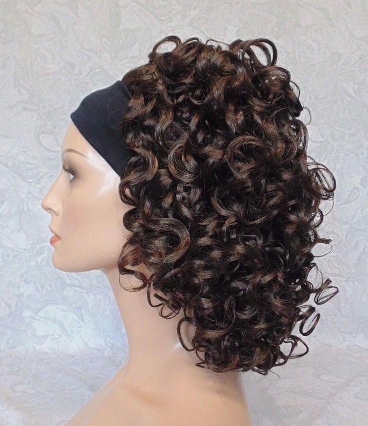 So Easy Headband Wig. STYLE Curly. Wide Black Headband