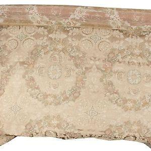 Floral-Gold-Intricate-Fabric-Upholstery-Decor-Vtg-Designer-Brocade-Jacquard-BTY