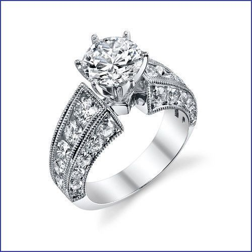 This beautiful 18K White Gold Semi Mount is from LA/Beverly Hills designer Gregorio, one of the most talented bridal ring designers in the world who is known within the industry for high intrinsic value builds with lots of high quality diamonds and precious metal in each robust creation. | eBay!