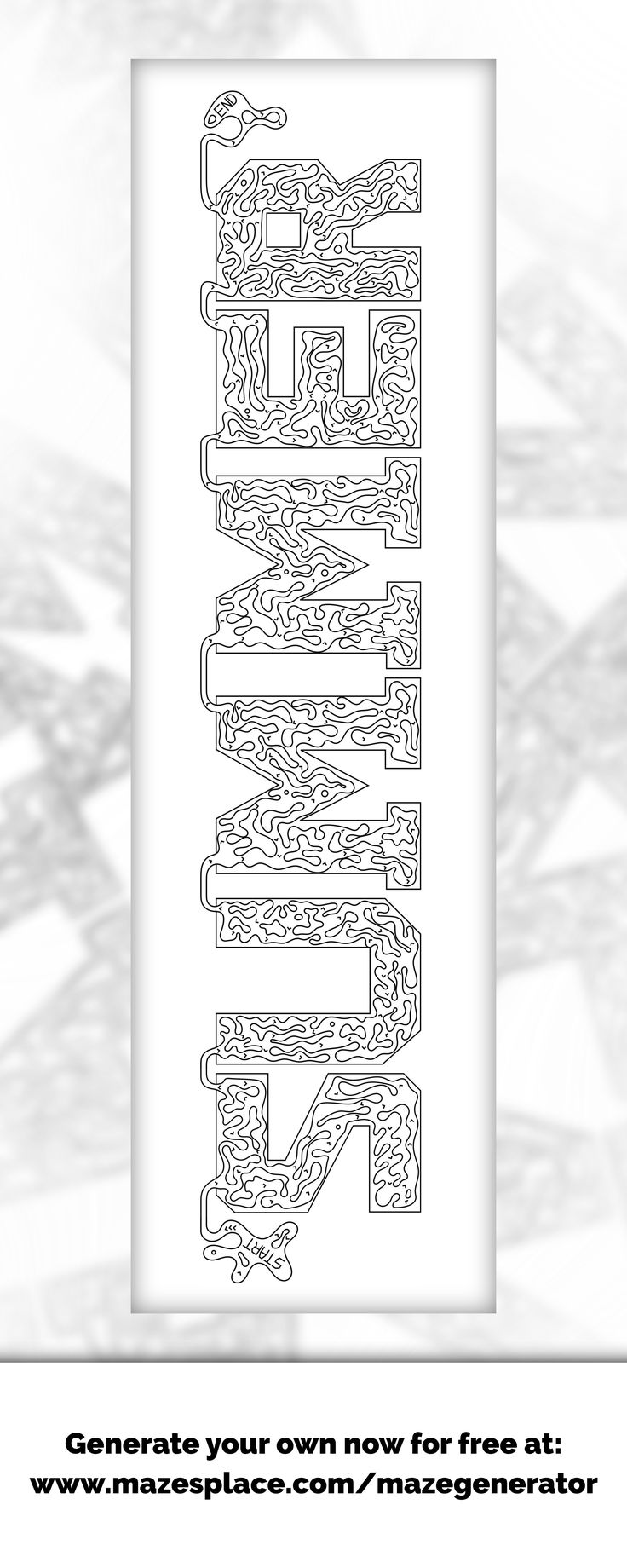 SUMMER maze!!!  Create your own for free! Any word you like!