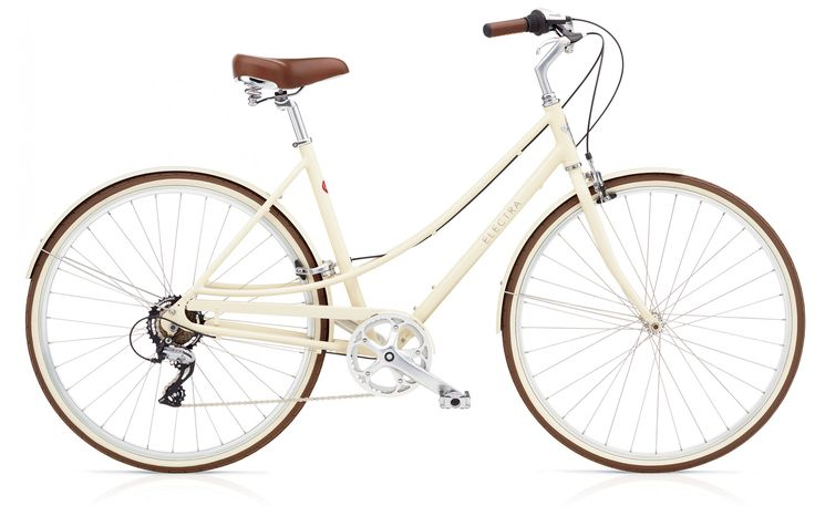 Electra Loft 7D in cream   This modern day classic is built to ride. It's lightweight.It's durable. It's comfortable. The wide range gearing isperfect for everything from the bike path to beer runs.The 7D comes equipped with an alloy frame, 7-speeddrivetrain and fenders for all-weather riding. $550