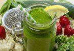 Semillas de Chia jugo verde
