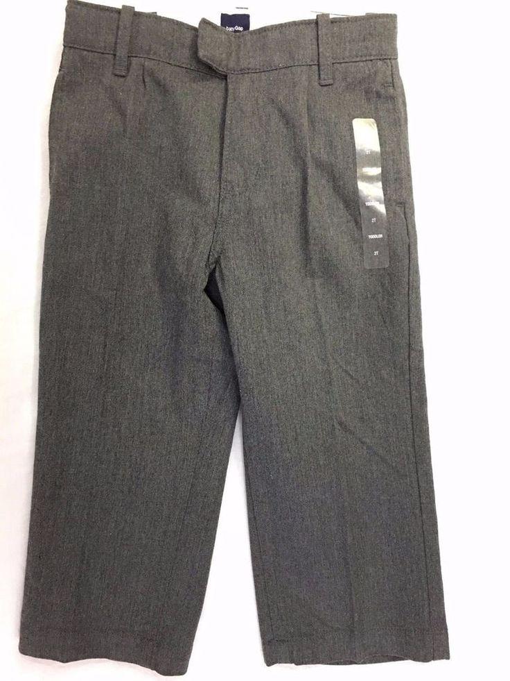 baby GAP Gray Dress Slacks Pants Toddler Size 2T 100% Cotton Adjustable NWT #babyGap #Pants #Everyday