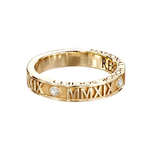 Roman Numeral Band-This beautifully, detailed class ring is available in a variety of customizable options. From Jostens Luxe Collection