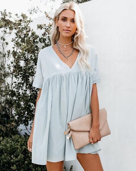 a7afa8b2e97 Darling Cotton Babydoll Dress - Sage in 2019 | Fashion & Style ...