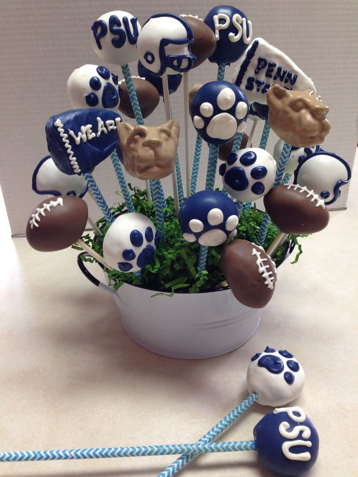 Penn state cake pops by MB