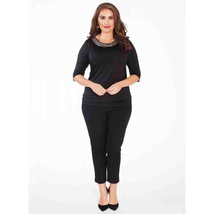 PRE-ORDER - Emily Plus Size Top in Black $113.00 http://www.curvyclothing.com.au/index.php?route=product/product&path=95_96&product_id=8535