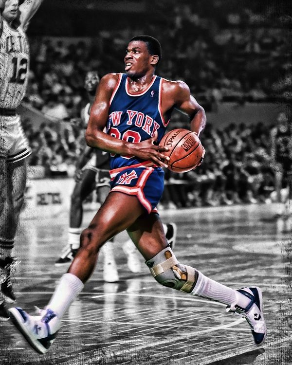 Bernard King of the @New York Knicks (a #NBA 2013 HOF inductee). See our full NBA collection at rareink.com