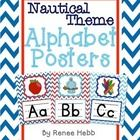 These chevron alphabet posters are a must have for any nautical theme classroom! The posters are 8.5x11, and created with bold red and blue chevron...