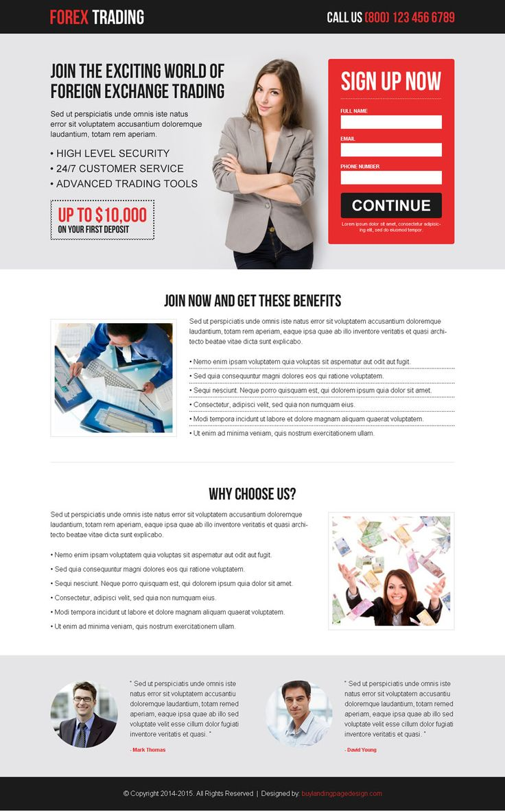 best forex trading lead capture converting landing page design